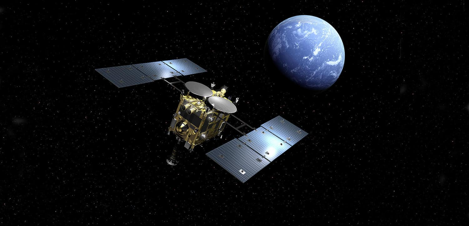 Hyabusa2 Collects Asteroid Samples